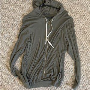 brandy melville full zip hoodie